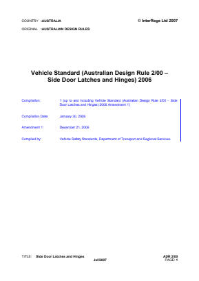 Side Door Latches and Hinges.