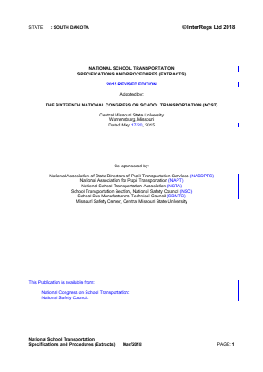 National School Transportation Specifications and Procedures (Extracts).
