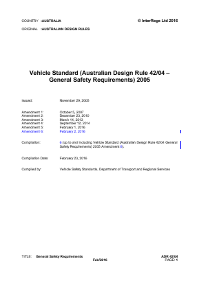 General Safety Requirements.