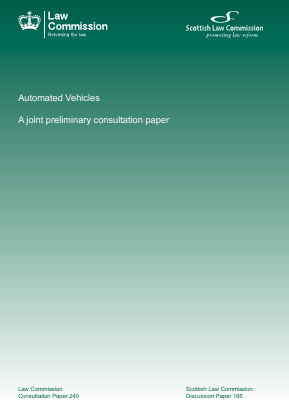 Automated Vehicles - A Joint Preliminary Consultation Paper.
