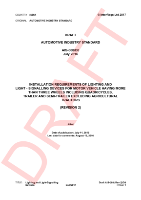 Installation of Lighting and Light-signalling Devices for Motor Vehicle with more than Three Wheels, Trailer, Semi-trailer - Draft Revision 2.