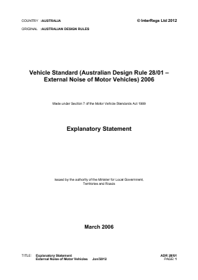 External Noise - Motor Vehicles.