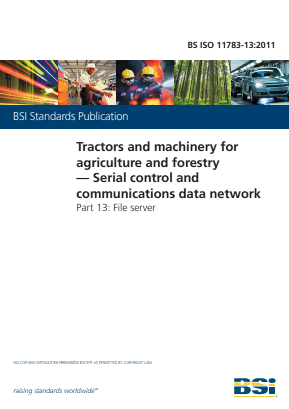 Serial Control and Communications Data Network - File Server - Tractors and Machinery for Agriculture and Forestry.