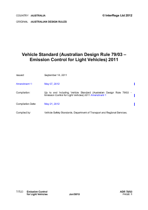 Emission Control for Light Vehicles.