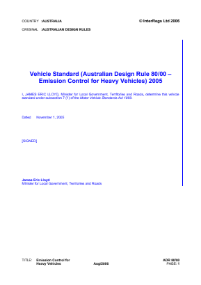 Emission Control for Heavy Vehicles.