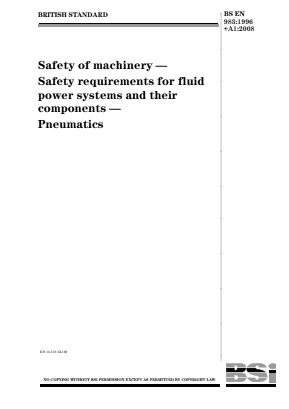 Fluid Power Systems - Safety - Pneumatics.