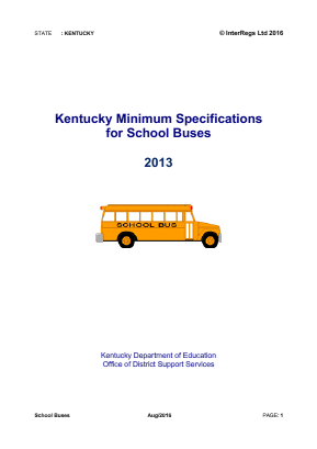Specifications for School Buses.
