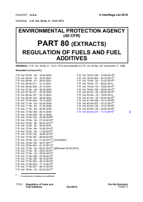 Fuels and Fuel Additives (Extracts).