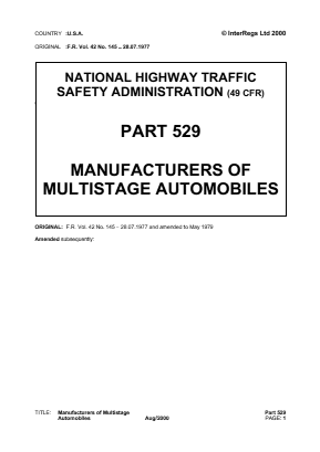 Multi-Stage Vehicle Manufacture.
