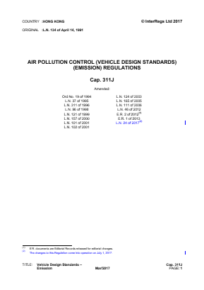 Vehicle Design Standards - Emission.
