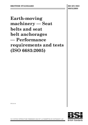 Seat Belts and Anchorages.