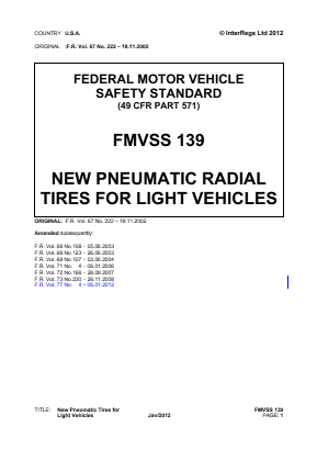 New Pneumatic Radial Tyres for Light Vehicles.