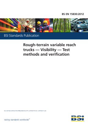 Rough-Terrain Variable Reach Trucks - Visibility - Test Methods and Verification.