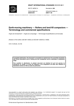 Rollers and Compactors - Terminology and Commercial Specifications (Draft).