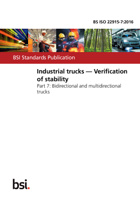 Industrial Trucks - Stability Tests - Part 7 : Bidirectional and Multidirectional Trucks.