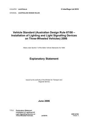 Installation of Lighting and Light-Signalling Devices on Three-Wheeled Vehicles.
