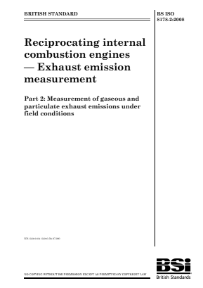 Emissions - Internal Combustion Engines - Measurement of Exhaust Emissions under Field Conditions.