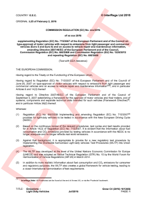 Emissions - Light Duty Vehicles (WLTP).