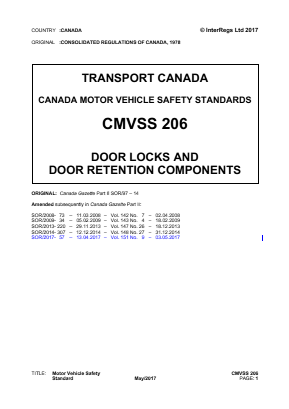 Door Locks and Door Retention Components.