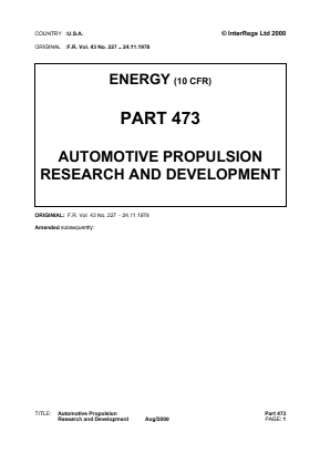 Automotive Propulsion Research and Development.