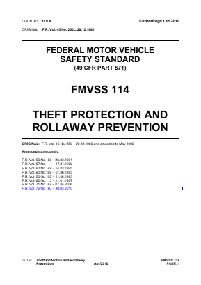 Theft Protection and Rollaway Prevention.