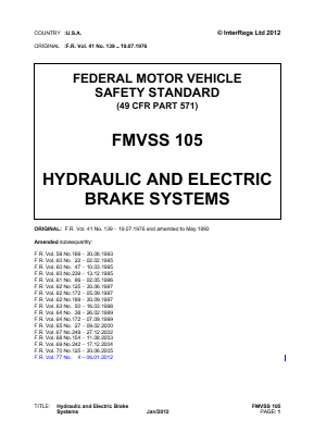 Hydraulic and Electric Brake Systems.