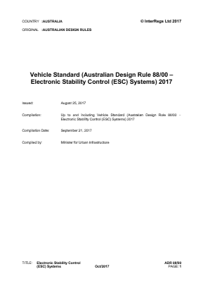 Electronic Stability Control (ESC) Systems.