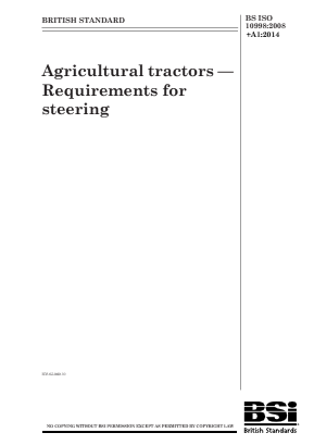 Steering - Agricultural Tractors.