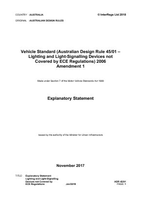 Lighting and Signalling Devices Not Covered by ECE Regulations.