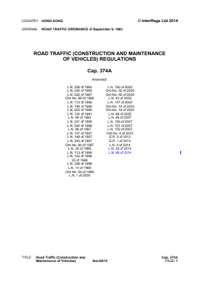 Construction and Maintenance of Vehicles Regulations.