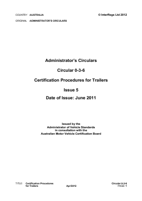 Certification Procedures for Trailers.