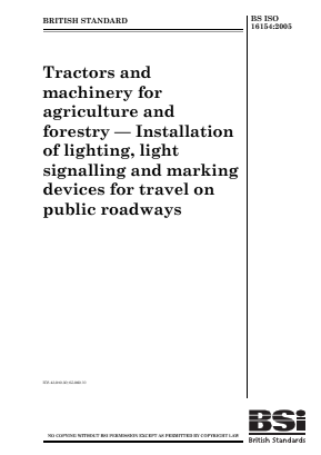 Lighting, Signalling and Marking Devices for Travel on Public Roads.