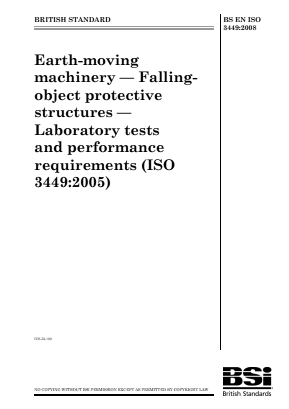 FOPS - Falling Object Protective Structures - Lab Tests and Performance Requirements.