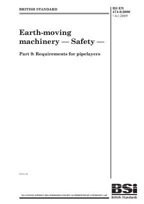 Pipelayers - Safety Requirements.