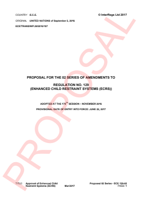 Approval of Enhanced Child Restraint Systems (ECRS). Proposal for the 02 Series.