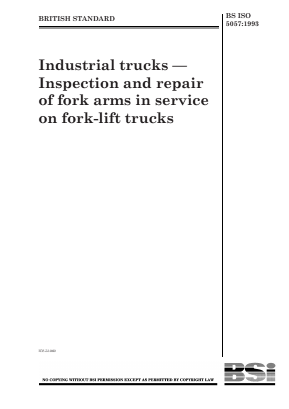 Forklift Trucks - Fork Arms - Inspection and Repair.
