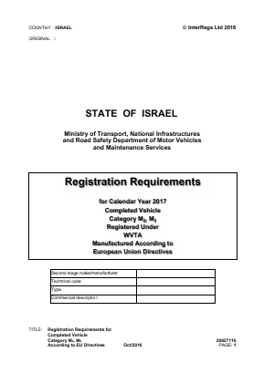 Registration Requirements for Completed Vehicle Category M2, M3 According to EU Directives.