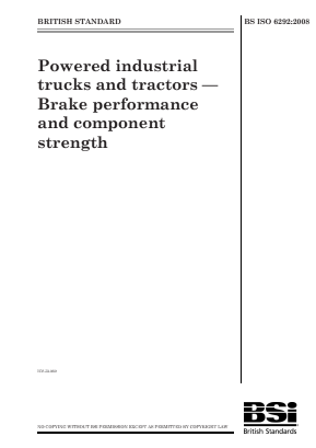 Braking - Industrial Trucks and Tractors.