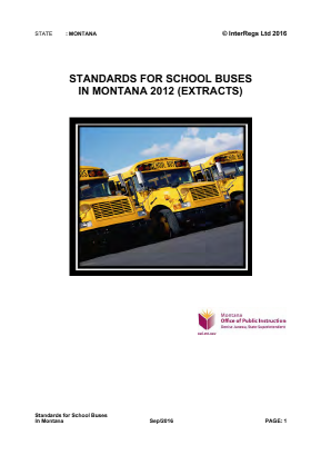 Standards for School Buses.
