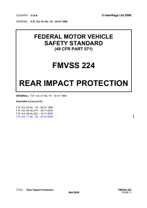 Rear Impact Protection (Trailers).