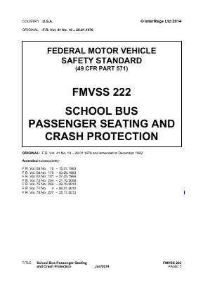 School Bus Passenger Seating and Crash Protection.