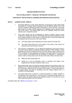 Motor Vehicle Licensing and Registration (Extracts).