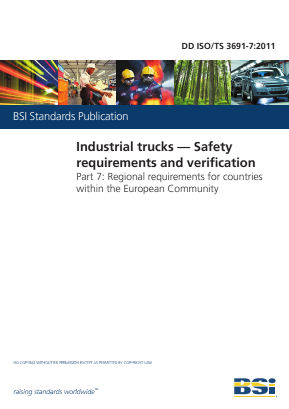 Industrial Trucks - Safety - Part 7 :  Regional Requirements for Countries within the EC.