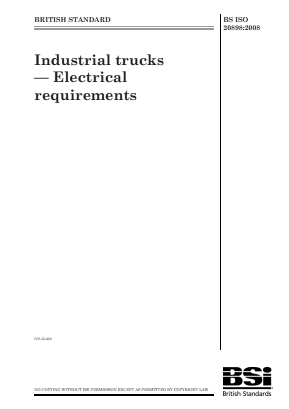 Industrial Trucks - Electrical Requirements.