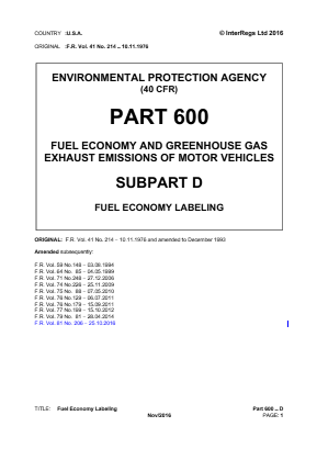 Fuel Economy Labeling.
