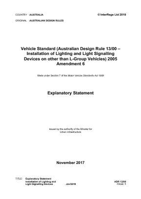 Lighting and Light Signalling Devices.