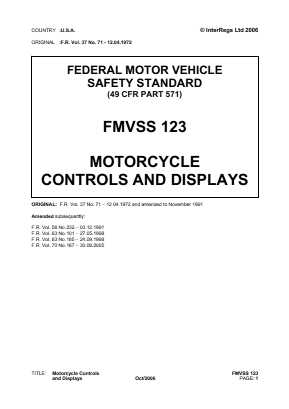 Motorcycle Controls and Displays.