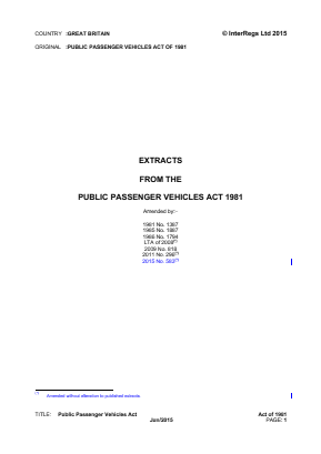 Public Passenger Vehicles Act 1981 (Extracts).