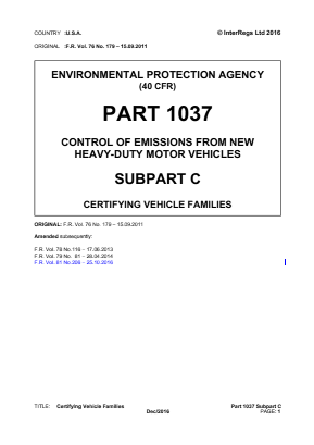 Certifying Vehicle Families.
