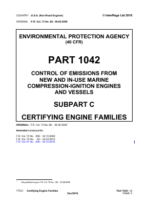 Certifying Engine Families.
